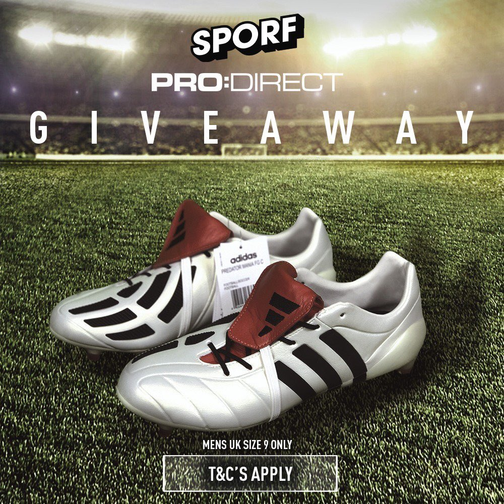 WIN: A pair of Adidas Champagne Predator Mania boots! 😱🔥  Simply Retweet this tweet to enter 🔁  Entry closes Sunday 4th June at 23:00 BST 😎