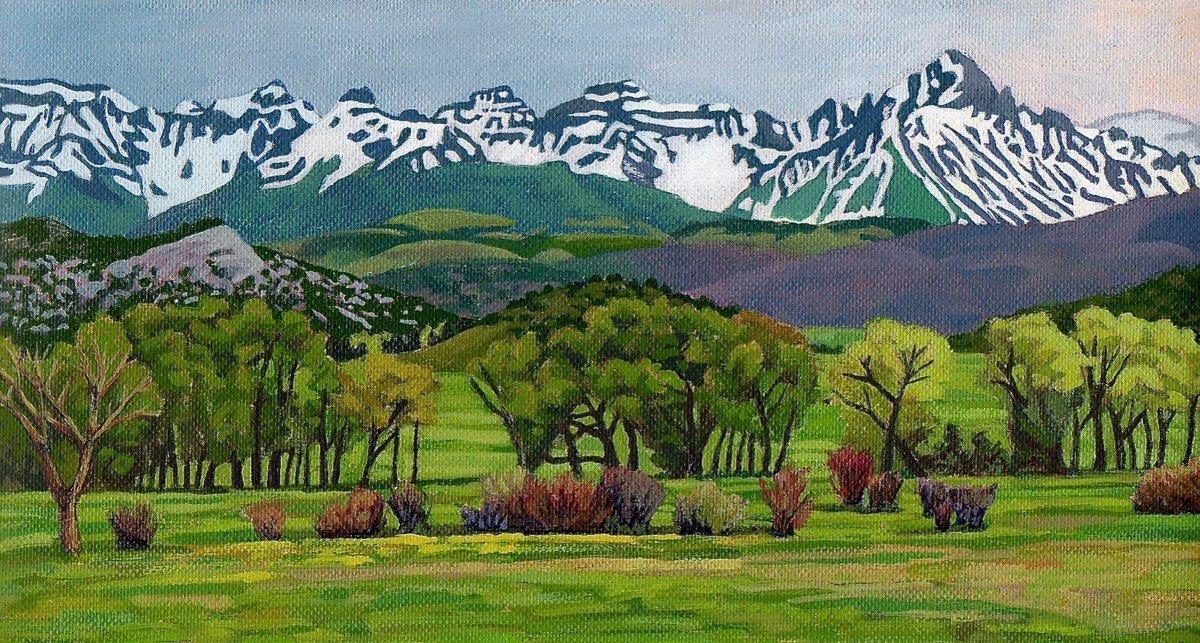 'Sneffels Range Spring' acrylic https://t.co/WksdhzLWiS #painting #colorado https://t.co/Wj6LxP2OfZ