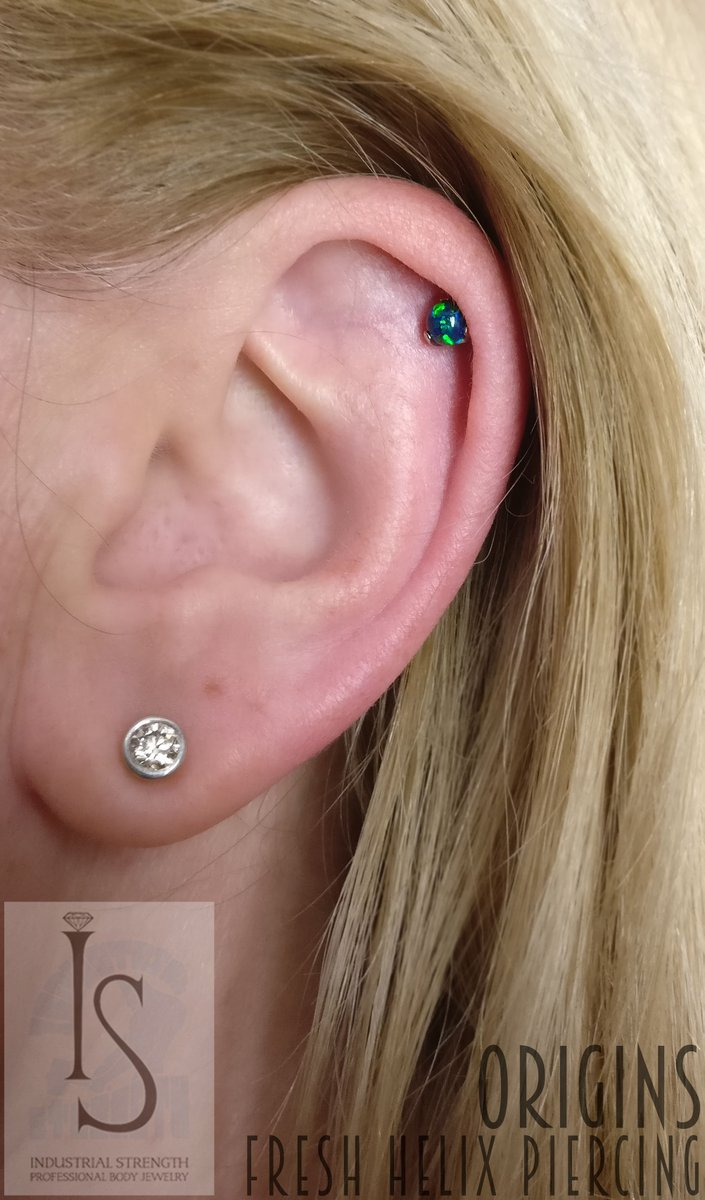 Origin Arts On Twitter Reopen And Upgrade On This Helix Piercing