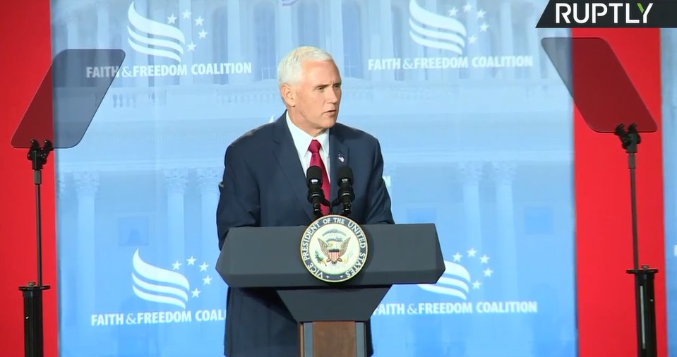 WATCH LIVE: VP #Pence delivers speech at #RoadToMajority conference in DC https://t.co/L5F9qsavQU