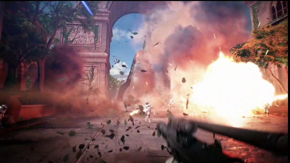 Here's a look at gameplay from #StarWarsBattlefrontII! #EAPlay #E32017