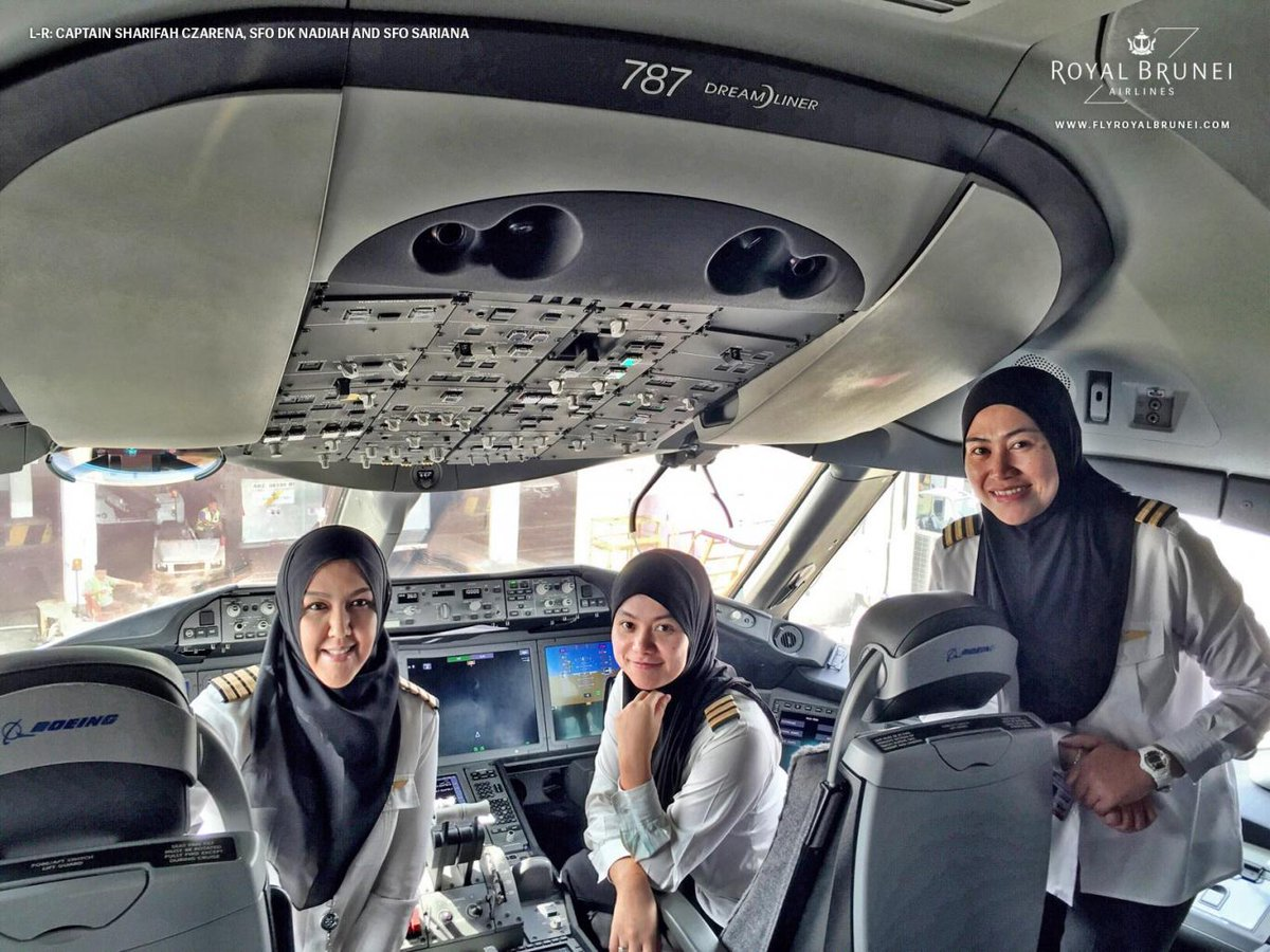All-female pilots can fly a passenger jet to Saudi Arabia but aren't allowed to drive a car once they get there. https://t.co/vFJGsXoZjU