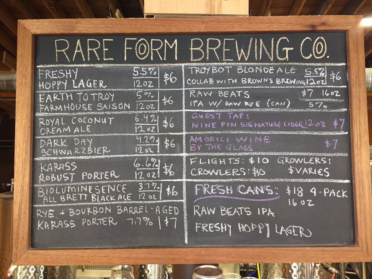 rare form brewing co on twitter current offerings