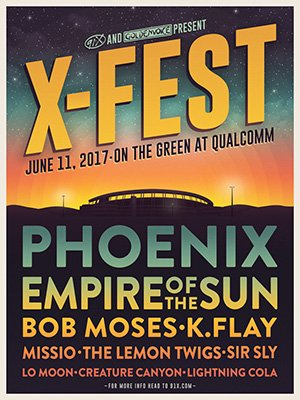 91X On Twitter Get Your Tickets To XFest 2017 Now Wearephoenix EmpireOfTheSun Bobmosesmusic Kflay MissioMusic AND MORE