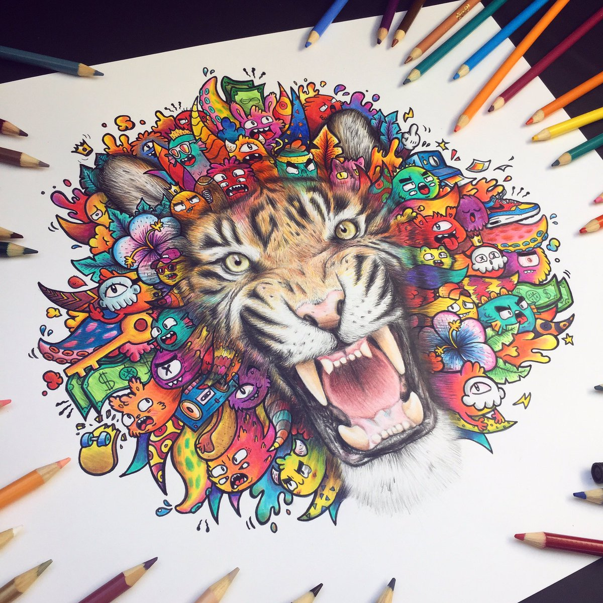 Vexx On Twitter Quot Tiger Doodle Is Done 🙌🐯🔥 Made With Cheap