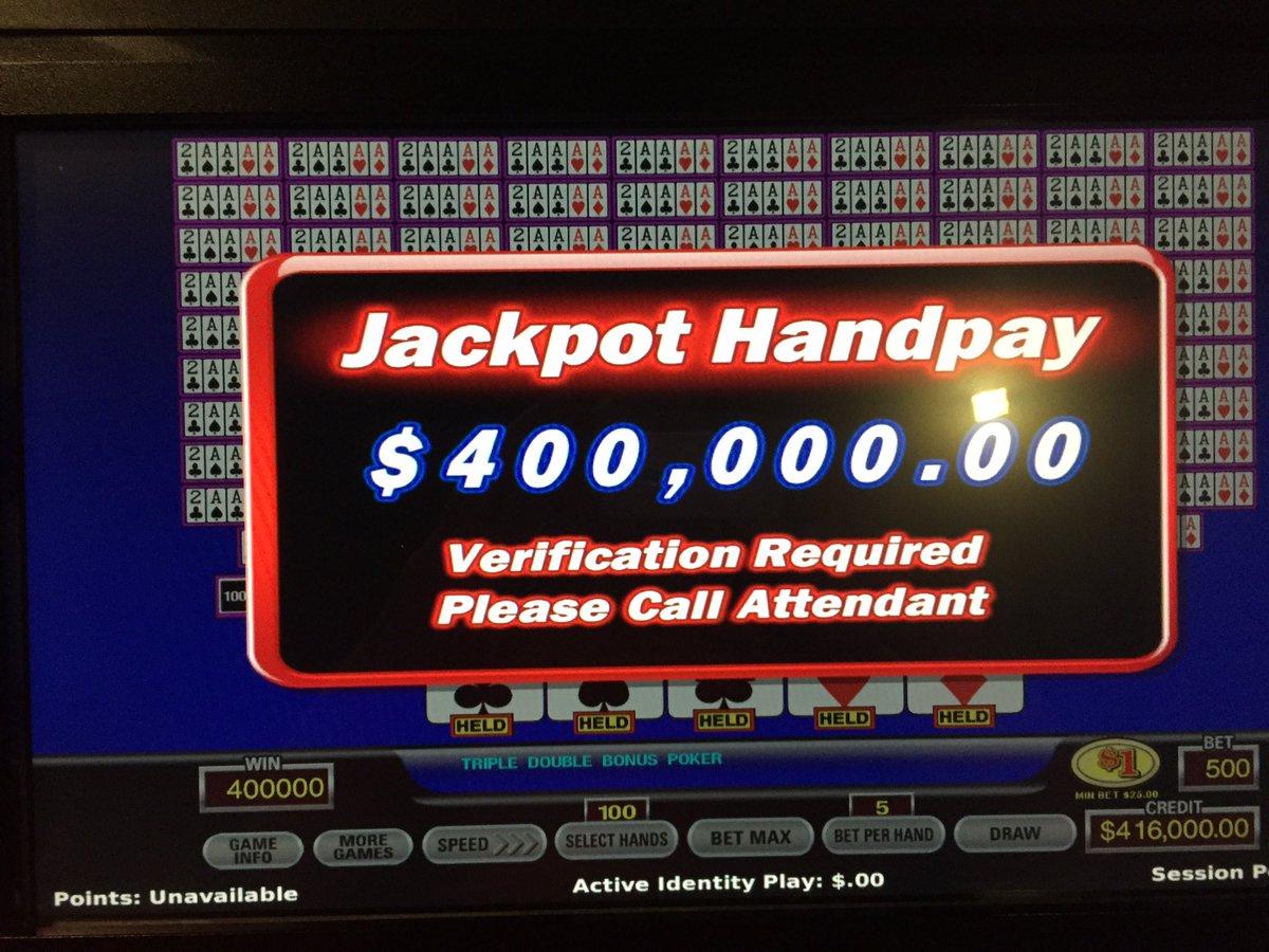 Triple double bonus poker machines