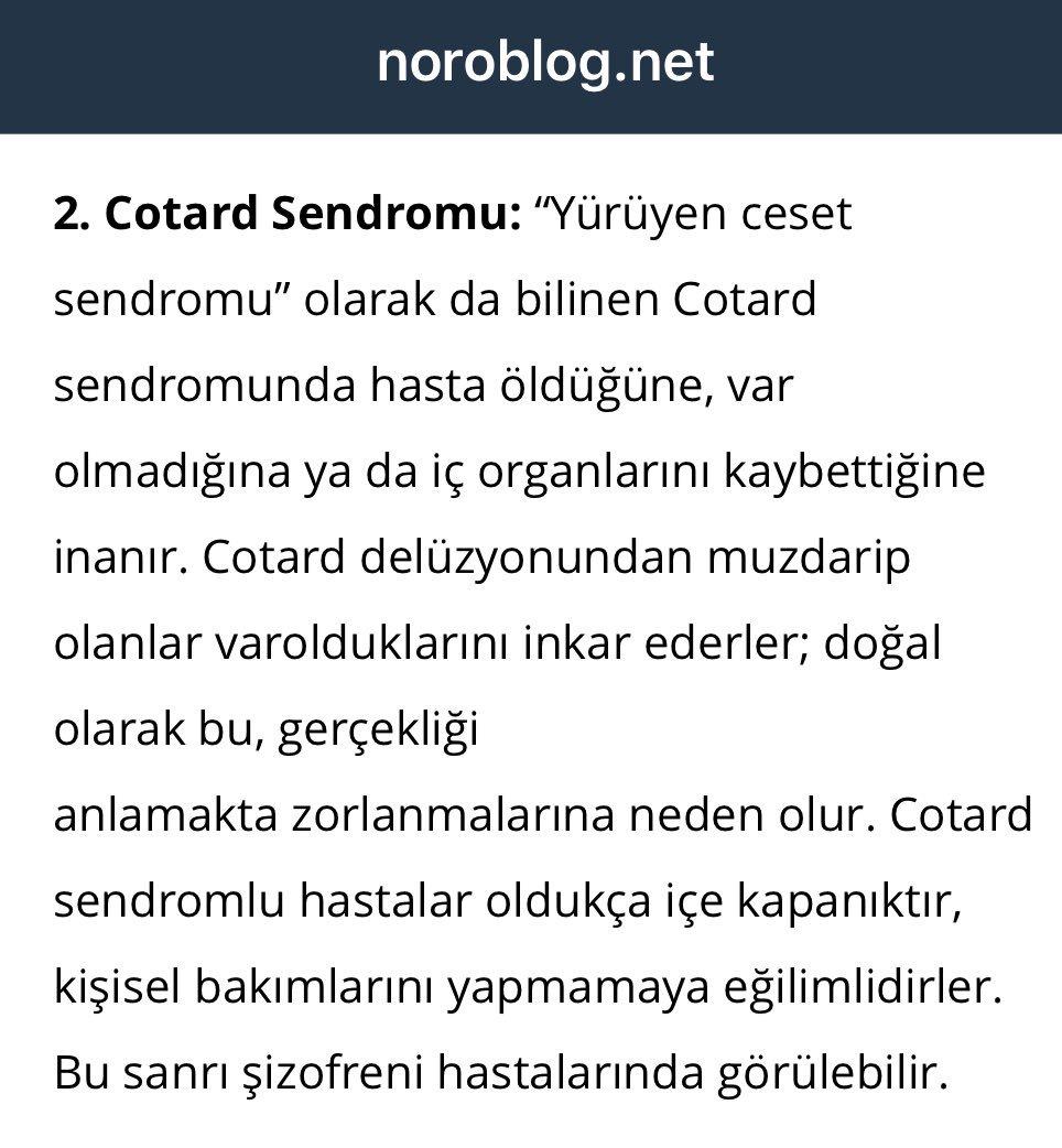 Cotard Sendromu