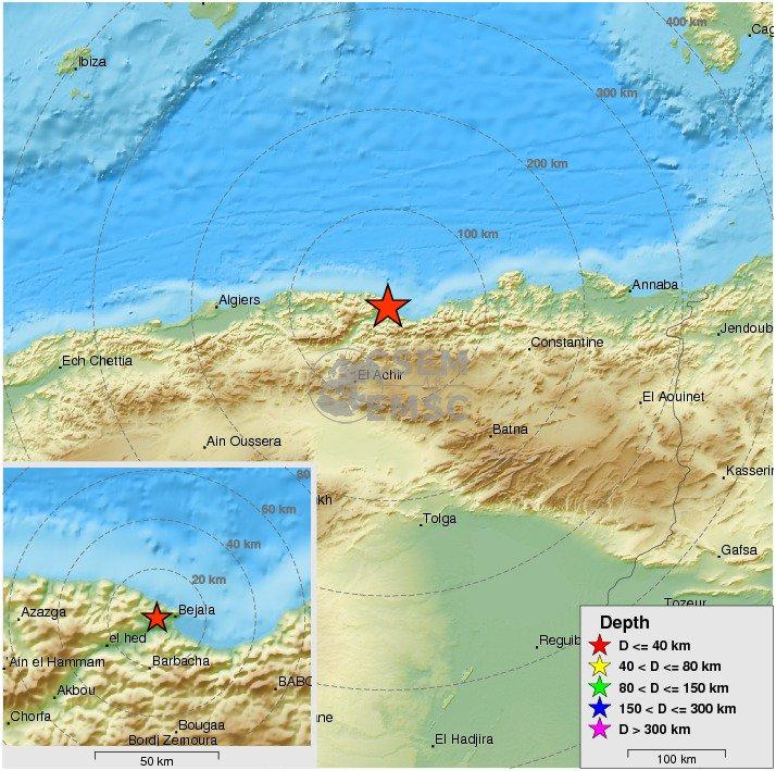 Felt #earthquake M3.3 strikes 8 km W of #Bejaïa (#Algeria) 36 min ago. Please report to:  http://www. emsc-csem.org/Earthquake/ear thquake.php?id=596280 &nbsp; … <br>http://pic.twitter.com/9azn6xUrIL