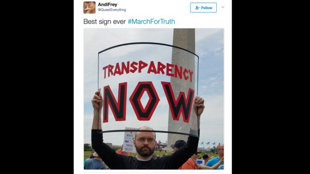5 of the best protest signs from the #MarchForTruth https://t.co/B81eUISx8U