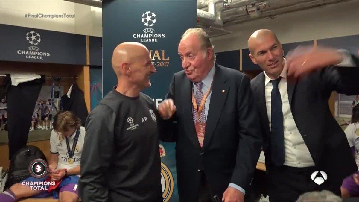 """Король Испании посетил раздевалку """"Реала"""" после победы в Лиге чемпионов"""