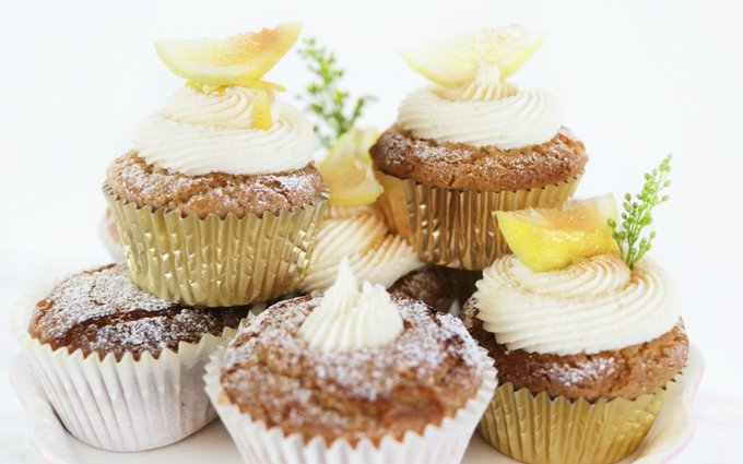 Lemon Drizzle Cupcakes [Vegan, Gluten-Free]