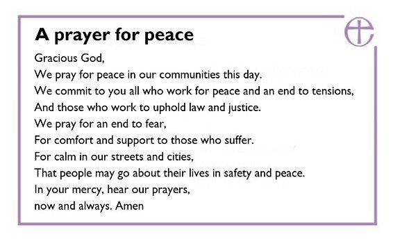 A prayer following the #Londonattack https://t.co/B1mV86dWSC