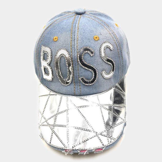 BOSS Denim Embossed Cap