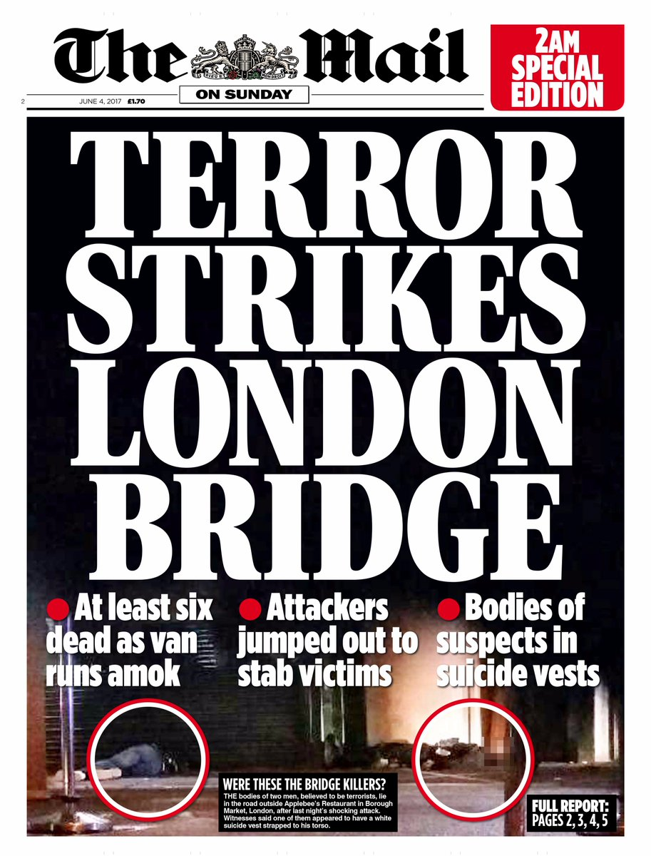 How the papers reported the London Bridge and Borough Market