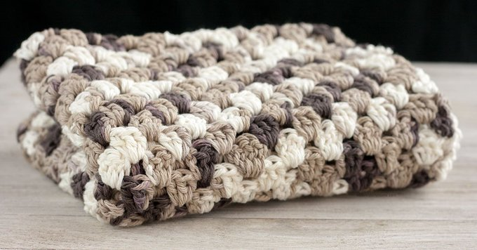 Granny Stripe Crochet Dish Towel Pattern