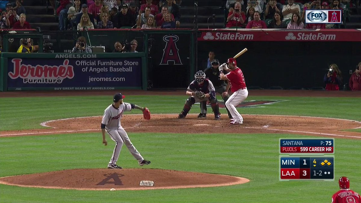 AND THERE IT GOES! 600!! @PujolsFive #GrandSlam @Angels @MLBonFOX https://t.co/LyBDn9LDuL