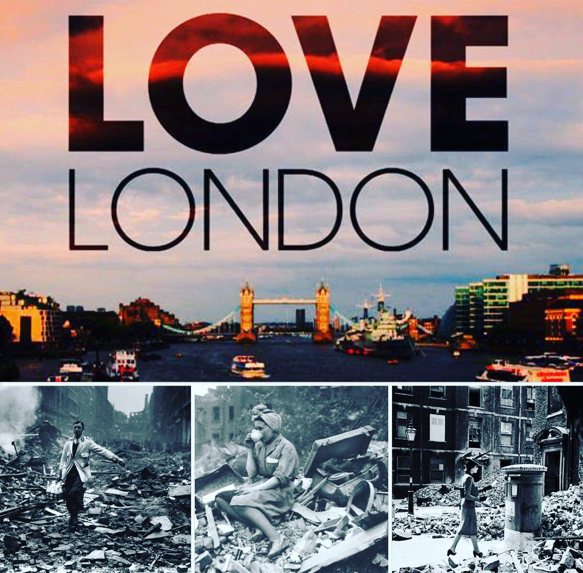 Shaken? Yes.  Cowed? No.  FALLEN?! Have a word, this is #London you're talking about.