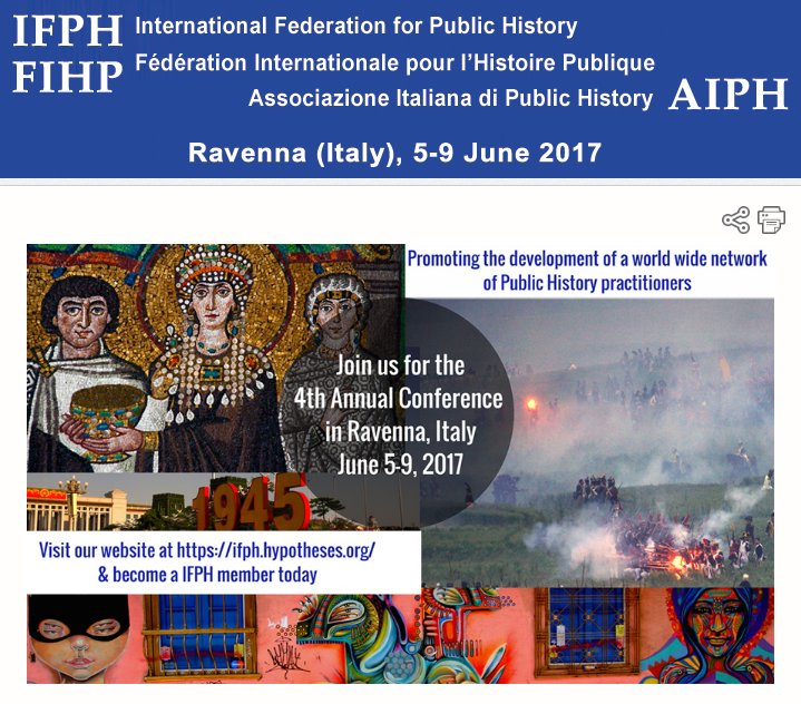 #IFPH2017 newsletter 3/1 before Ravenna #publichistory 4th IFPH-FIHP Conf 5-9 June https://t.co/sFvjZClyRZ @ncph @pubhisint https://t.co/LbtY12VtWs