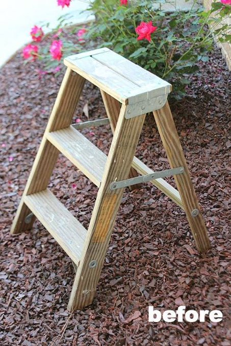 Ladder Side Table Planter