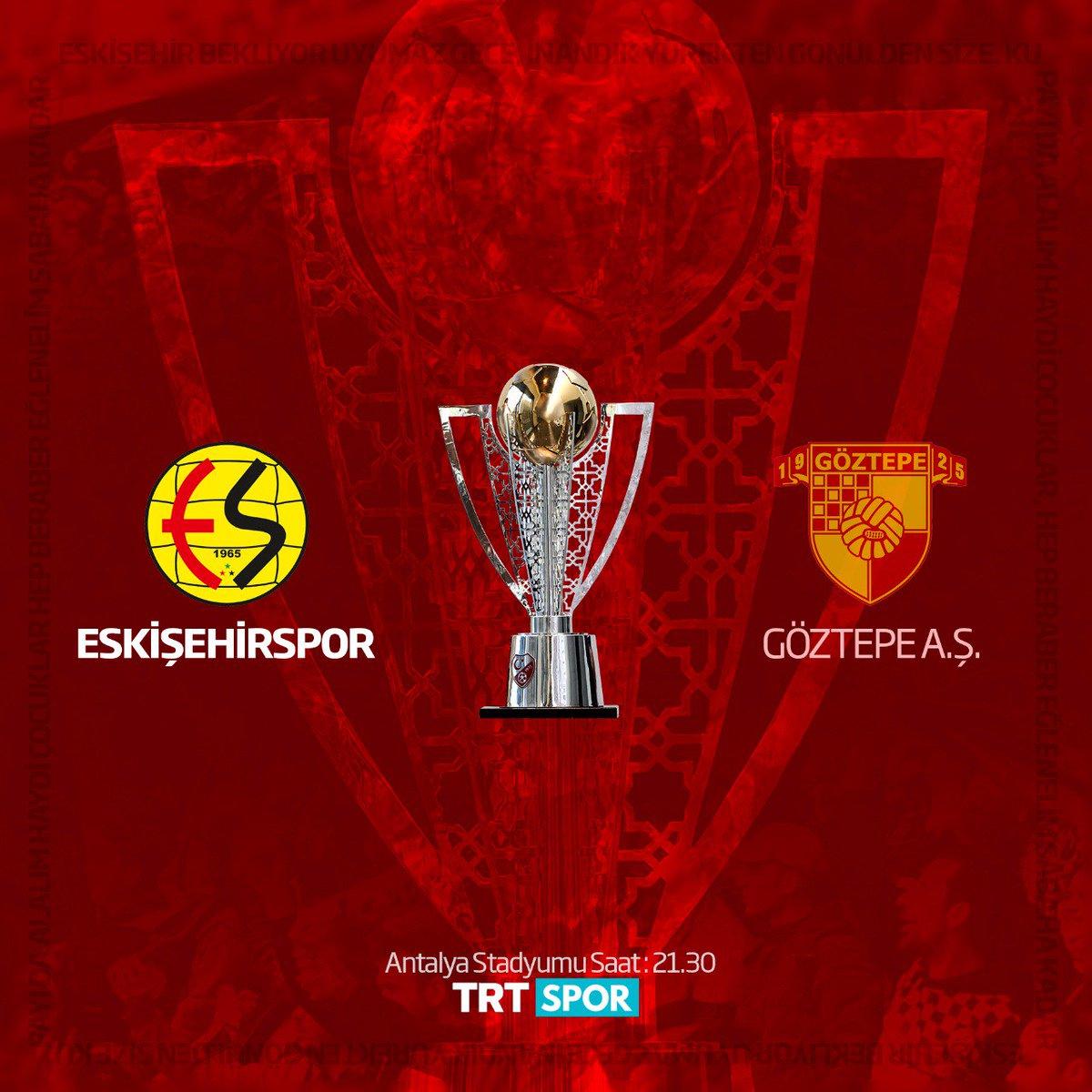 Kupa günü! Şampiyonluk parolasıyla sahaya çıkıyoruz... #Eskişehirspor #EsEs #KırmızıŞimşekler #AnadoluEfsanesi https://t.co/MXEZaHBv0l