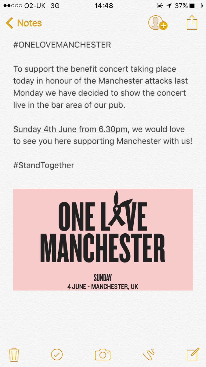 #StandTogether #OneLoveMachester #manchesteronelove 💗 https://t.co/ajFZGk5dSV