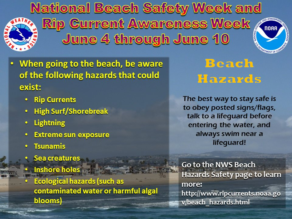 Learn About The Possible Hazards When You Swim At Area Beaches And How To Stay Safe Https Goo Gl Pfwhw3 Beachsafetyweekpic Twitter Xrcndb3p4c