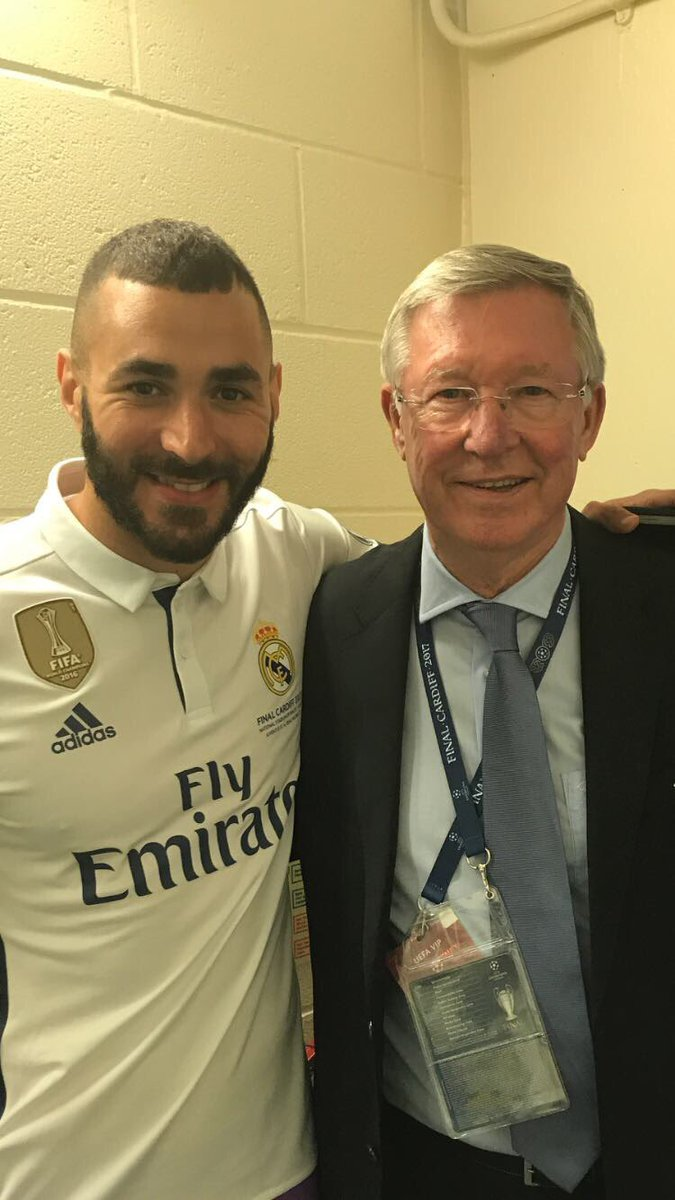 Fergie time 😉 Nice to see you Sir Alex #Legend #Boss #Respect