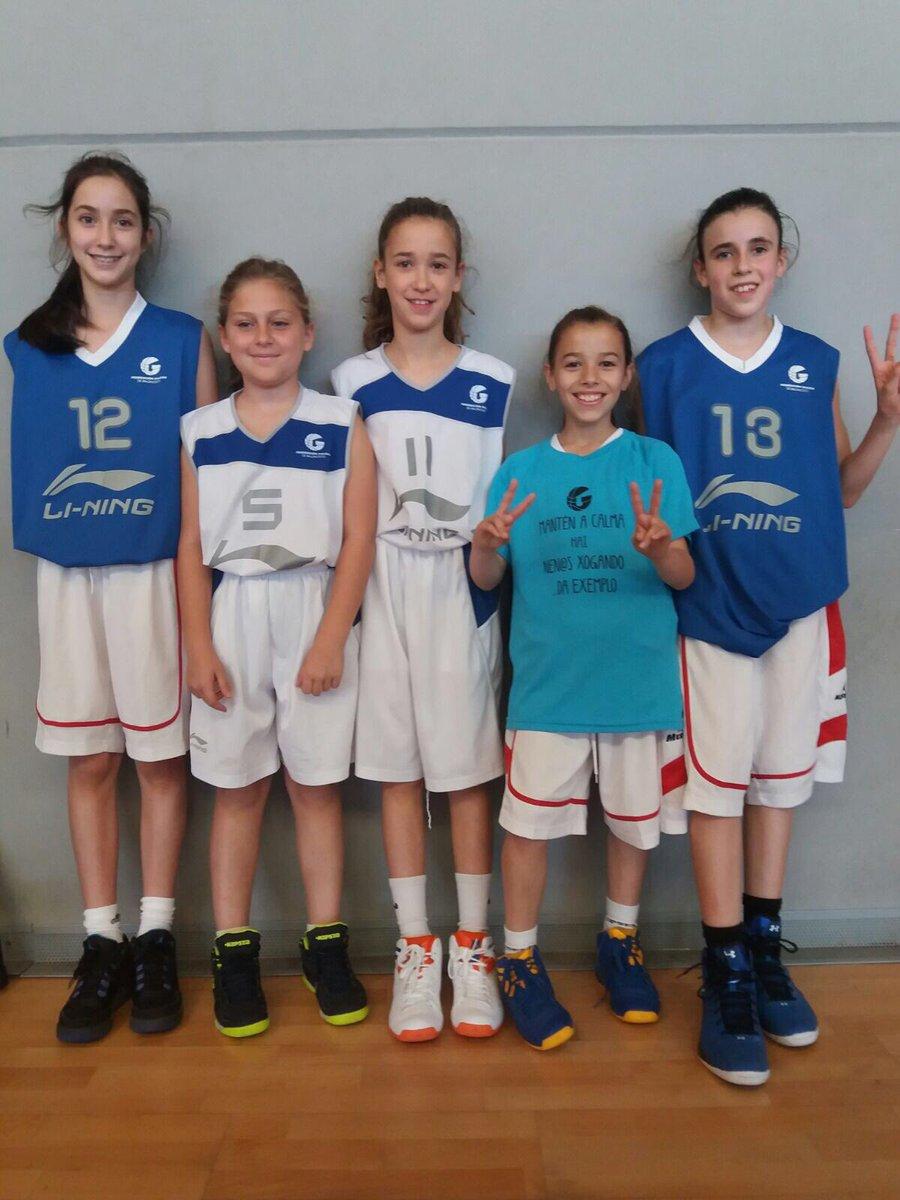 Cinco jugadoras del club participan hoy en Xuntanza Prealevin @FGB_Baloncesto en Noia: Irene, Uxia, Antia, Aroa y Cristina.