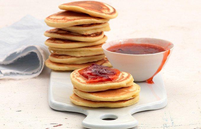 Ricetta Pancake al farro e composta di prugne