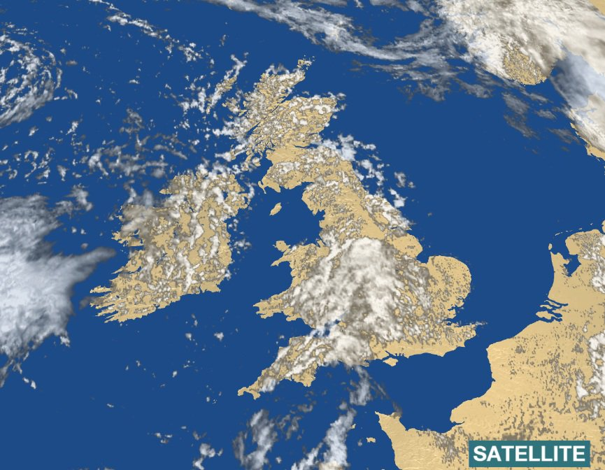 The Latest Satellite View Shows Plenty Of Shower Clouds But - Latest satellite view