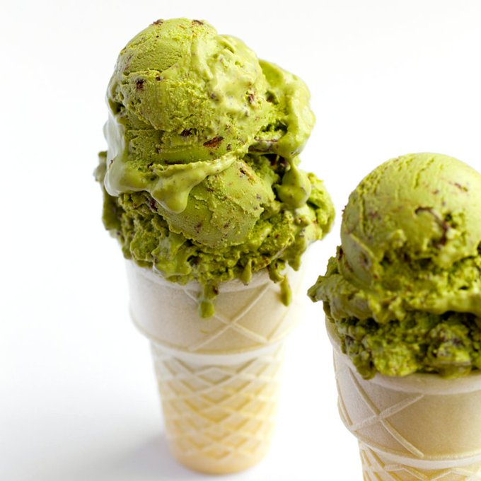 Matcha Mint Chip Ice Cream (Vegan)