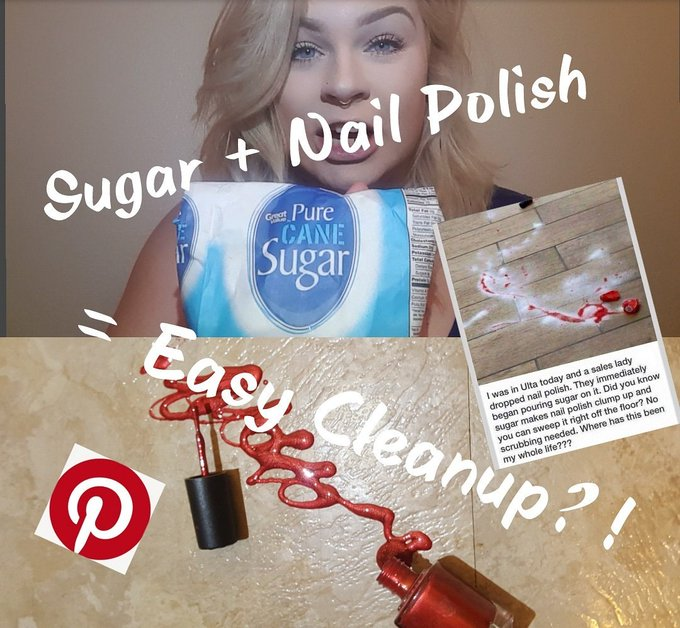 Does Sugar Clean up Nail Polish?!