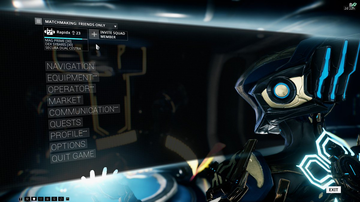 Options de matchmaking warframe