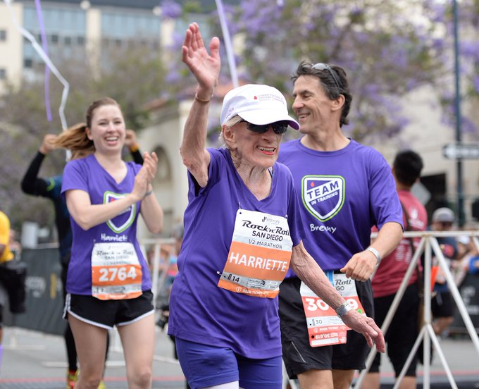 View image on Twitter - 94-Year-Old Harriette Thompson Just Set a New Half Marathon Record