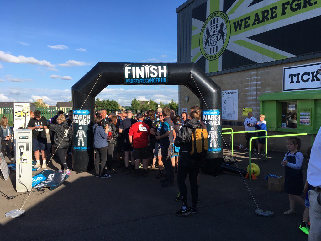 They've done it! #JeffsMarch day 3 for @ProstateUK is complete at The New Lawn. Congratulations to all involved. https://t.co/ZiISmE9ZZN