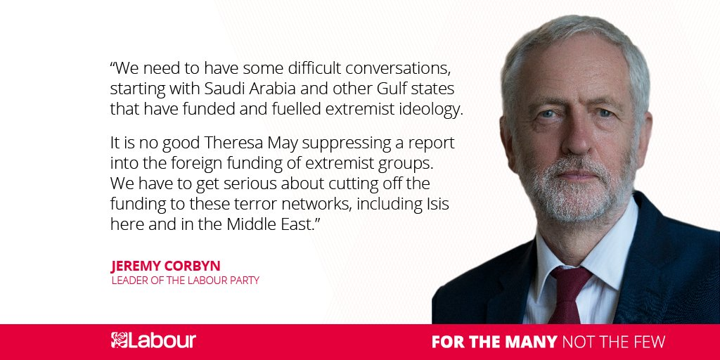 We need to have some difficult conversations, starting with Saudi Arabia & other Gulf states that have funded and fuelled extremist ideology