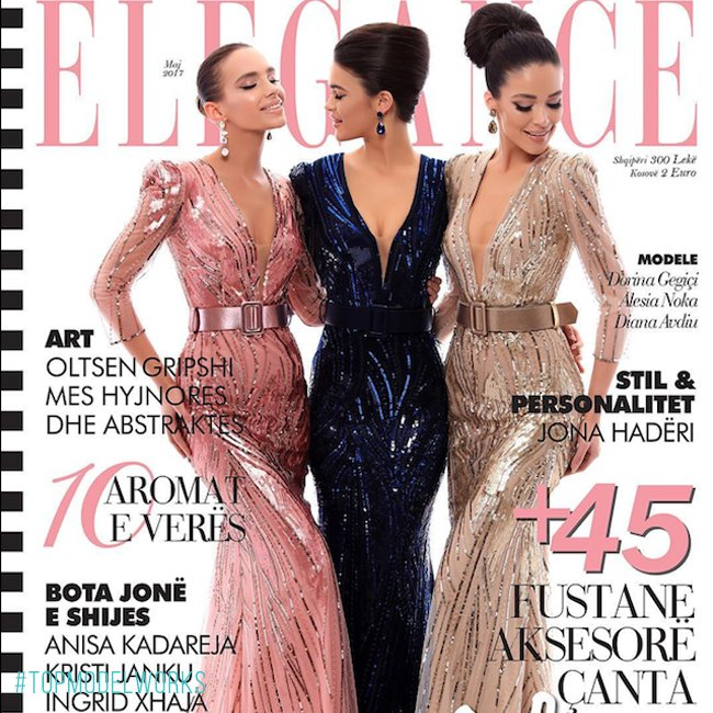 #DorinaGegici (Albania's Next Top Model Cycle 2) grace the cover of #EleganceMagazine May 2017 issue! Photo by #EndritMertiri #TOPMODELWORKSpic.twitter.com/yBo9EZXuNT