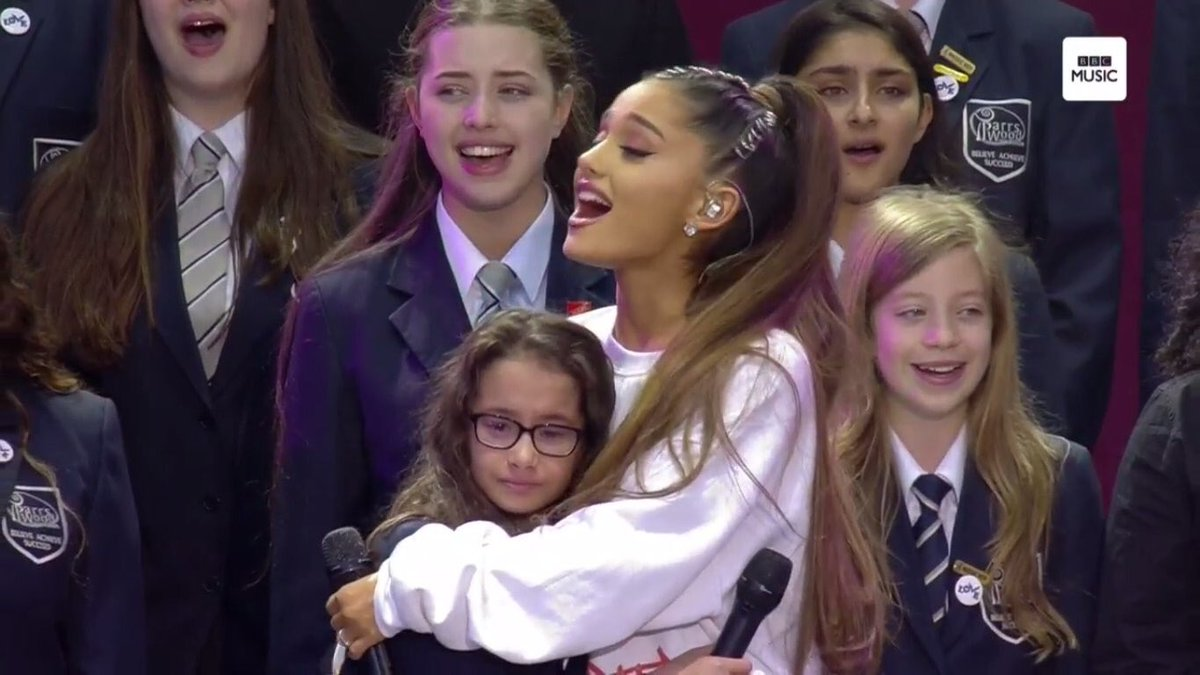I misjudged you, @ArianaGrande & I apologise.  You're an admirable young woman & this is a magnificent night.  Respect.👍 #OneLoveManchester