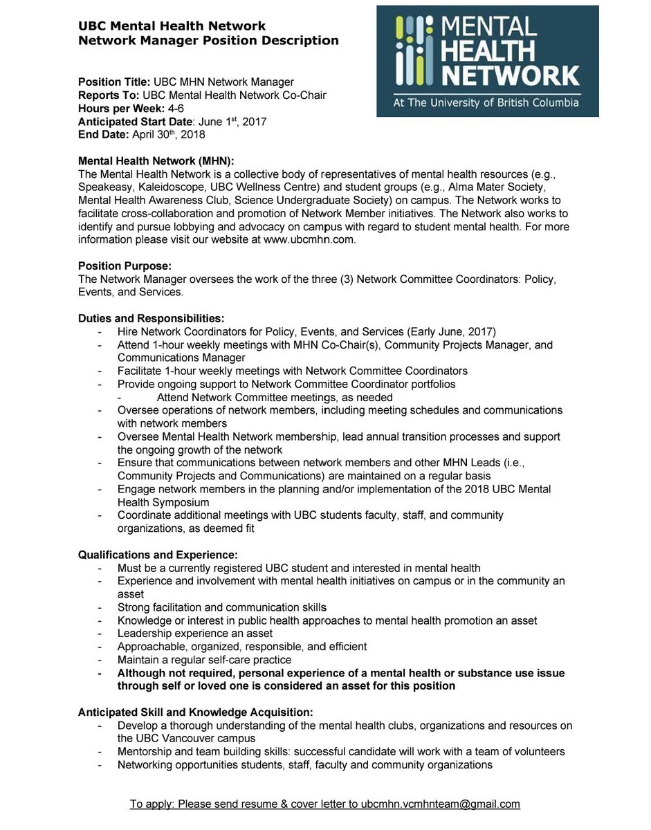 Ubc Cover Letter And Resume Cover Letter 4you