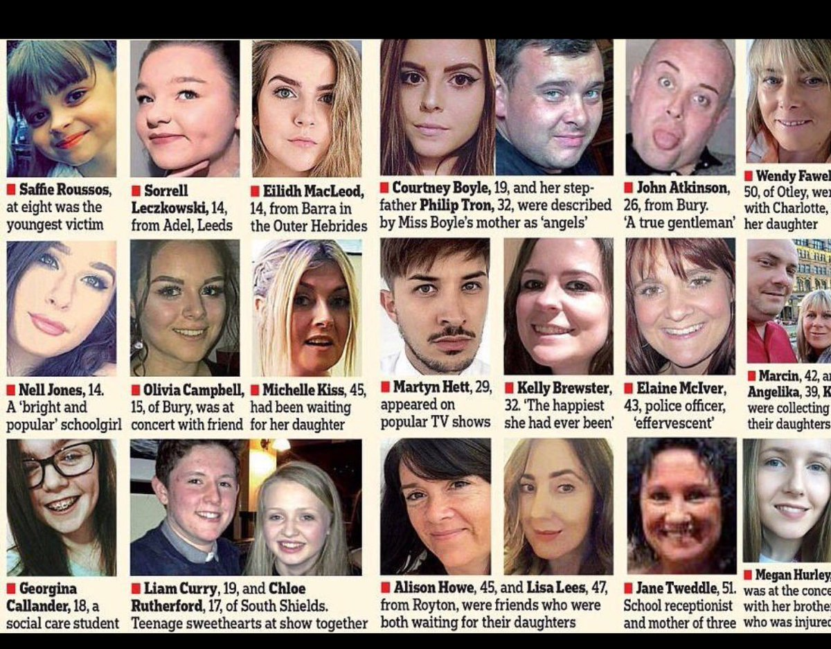 In loving memory of these beautiful souls lost. This is a spectacular memorial service  #OneLoveManchester #RIP ❤️❤️ https://t.co/4b1TC8qC2R