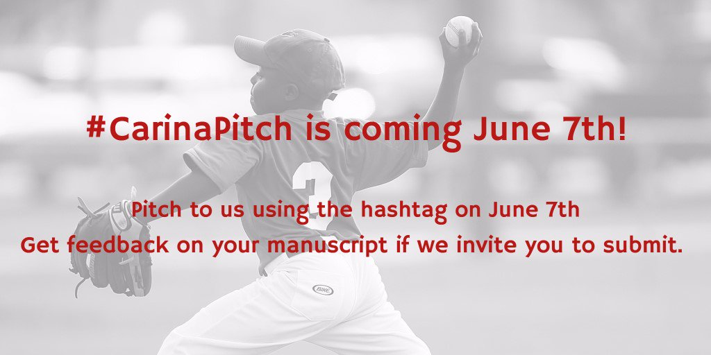 Will you be participating in #CarinaPitch this year? We'll be requesting manuscripts on the spot! #AmWriting https://t.co/E9oKONHpID