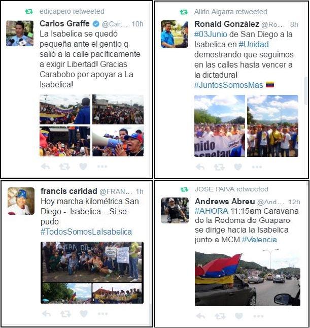 Ayer en marcha 3J vinieron Diputados, Alcaldes, PartidosOposición, gente de SanDiego, SanJose y Naguanagua de #Isabelica nadie salió xq será https://t.co/G8WZhFk5nv