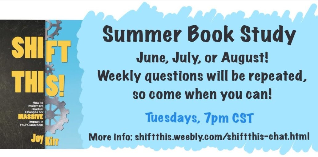 Join in our first #ShiftThis book study chat today at 7pm CST!  https://t.co/GLoxaknDSb  #edchat #BookCampPD #tlap #colchat #hacklearning https://t.co/vFaFGliBRV