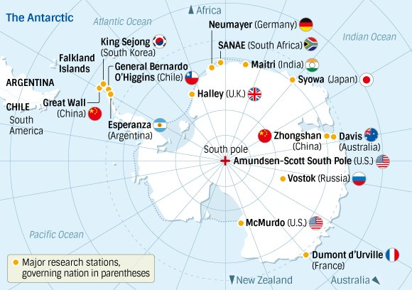 Here\'s a map of antarctica\'s bases. in tonight\'s episode, bourdain ...