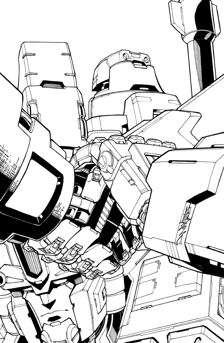 The cover to Lost Light issue 7. Colours by mega talent @dyemooch Enjoy #transformers #MTMTE #lostlight #megatron #ultramagnus