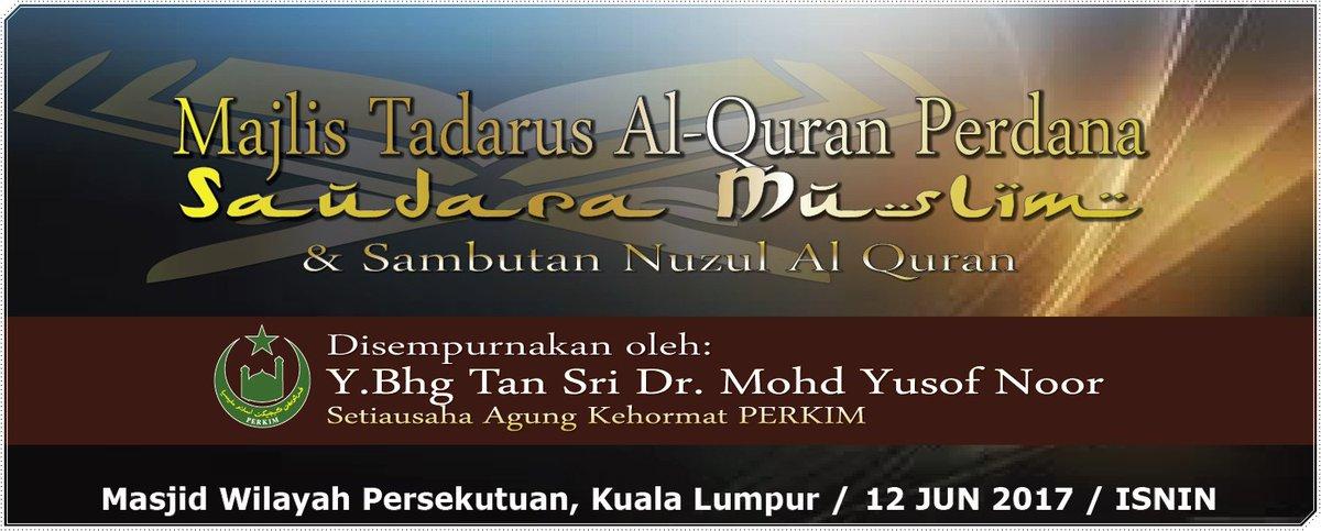 ڤركيم كبڠسأن Di Twitter Salam Jemputan Menyertai Majlis Tadarus