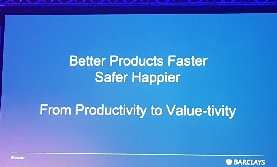 From producing bad products efficiently to value-tivity#DOES17 https://t.co/eXR75uHQnS