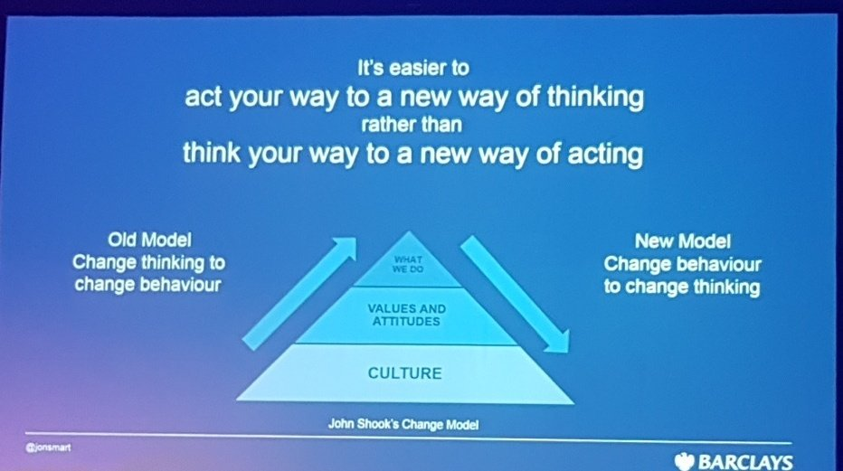 Change the system of work to get the outcomes you want #DOES17 https://t.co/fqwGFaPEvL