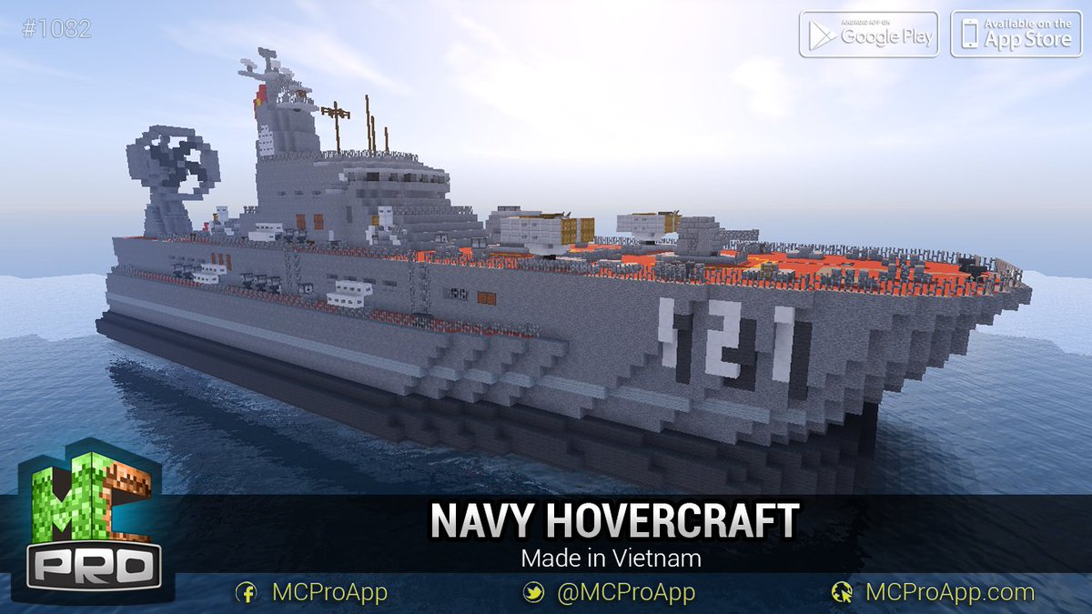 Mcproapp on twitter another ship by made in vietnam team navy get minecraft blueprint for free on ios and android httpstnqwext2hor httpsti12yngiiqx malvernweather Image collections
