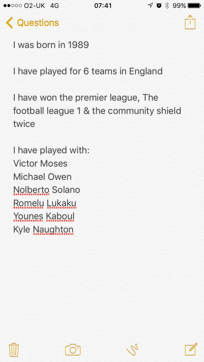 who am i football questions